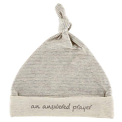 Stephan Baby Answered Prayer Oatmeal 0-6 Months Newborn Cotton Blend Beanie Cap ()