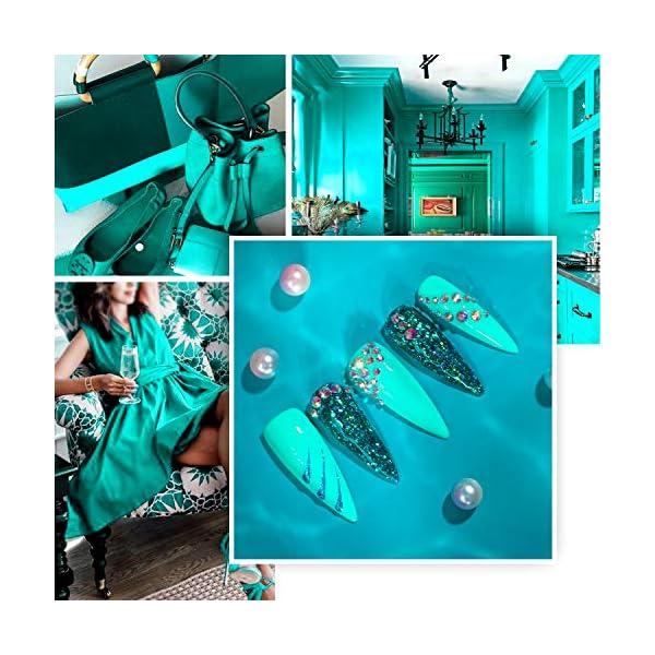 Beetles Gel Nail Polish Kit, Mermaid Mantra 20 Colors Soak Off Gel Polish Starter Kit with 1 Base Coat 1 Glossy & 1…