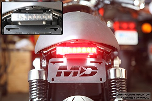 R Fender Eliminator with LED Tail Light Smoked Lens for 2016-2018 Triumph Thruxton 1200