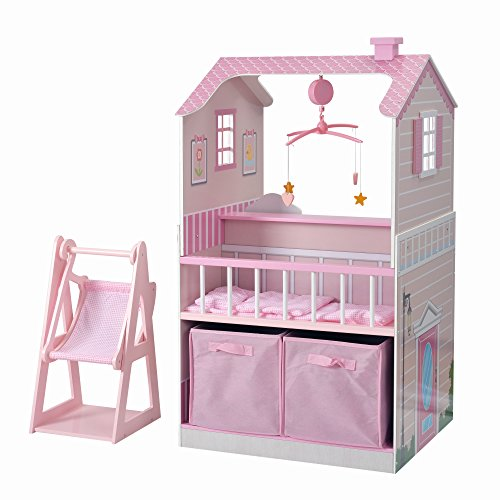 Teamson Kids All in One Baby Doll Nursery Station for Dolls Nursery Center, 18