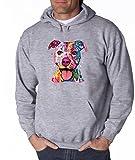 Pitbull Love Pitbull Mom Dad Hoodie Cute Pitbull Art Cool Pitbull Sweatshirt Sports Grey 507