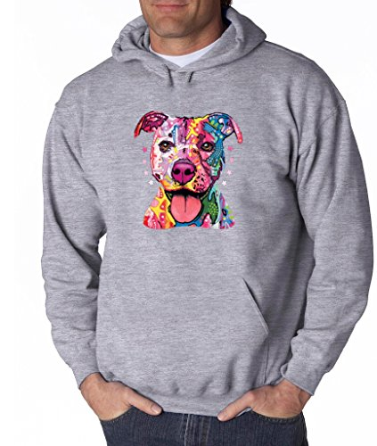 Pitbull Love Pitbull Mom Dad Hoodie Cute Pitbull Art Cool Pitbull Sweatshirt Sports Grey 507 by VISHTEA (Image #2)