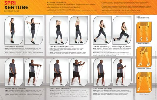 Spri Xertube Resistance Bands Exercise Cords All Exercise