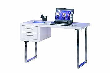 Inter link bureau table de travail panneaux de particules blanc