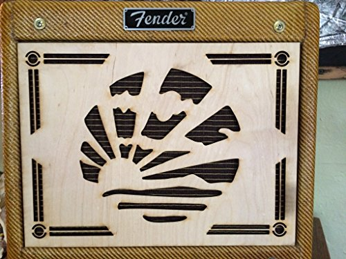 AmpFacade Art Deco Speaker wood guitar amplifier grill cover for Fender Tweed Champ or common 5F1 clone with 8