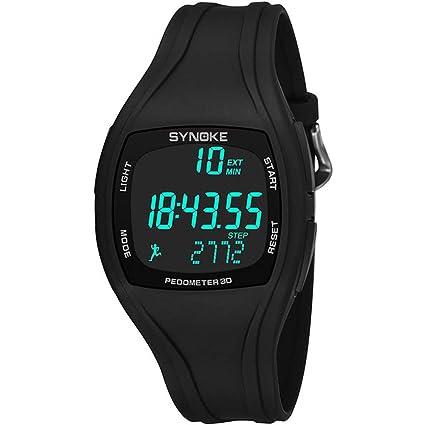 07b1ac84fc16 MD Reloj Digital para Hombre De Color Negro Reloj LED Reloj Deportivo  Deportivo A Prueba De
