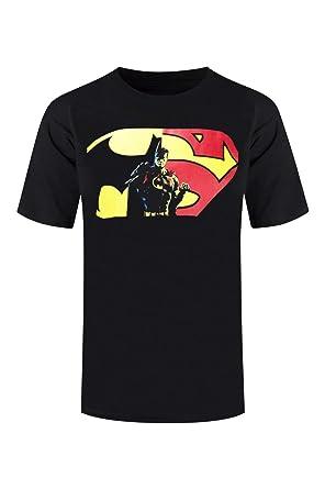 987b47b31721 Amazon.com  New Men Batman VS Superman Shirt Half Marvel DC Comics ...
