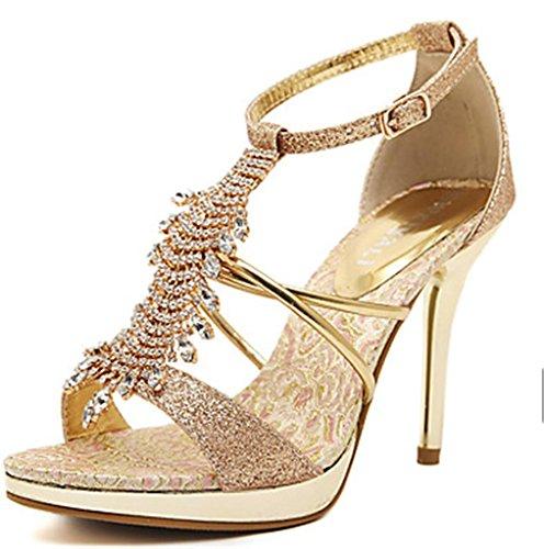 39 À Mnii Talons De Beau Soirée Sandales Élégant Femme Et La Chaussures Cheval Mariée Sandale Robe gqrtZxnr