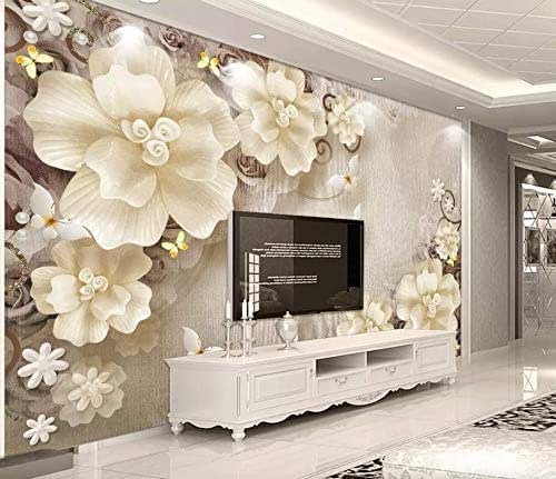 Amazon.com: Murwall Floral Wallpaper Pearl Flower Wall