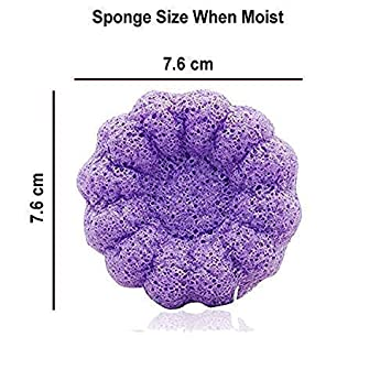 hergestellt aus reinen Konjac-Pflanzen ultraweich Badeschwamm von purifyou sicher 100/% nat/ürlich f/ür Babys und Erwachsene langlebig