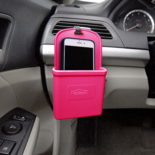 FH Group FH3022MAGENTA Magenta Silicone Car Vent Mounted Phone Holder (Smartphone works with IPhone Plus Galaxy Note Magenta Color)