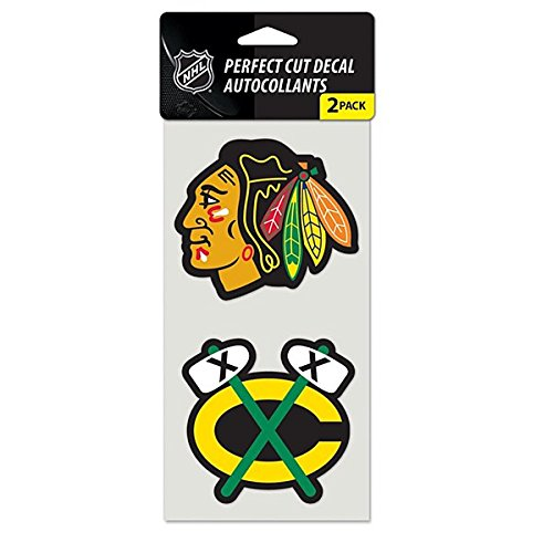WinCraft NHL Chicago Blackhawks Perfect Cut Decal (Set of 2), 4
