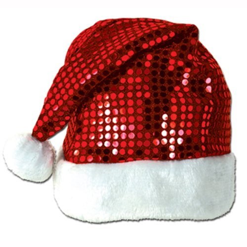 Kids SEQUIN Santa HAT/Cap/PHOTO OP/Party Attire/ELF/Mrs CLAUS by PMU (Kids Santa Hat)