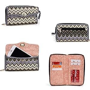 Gigabyte Gsmart Simba SX1*SplaSh series* Cross Body wallet w/ extrerior phone pocket in saphire blue PLUS Bonus Neviss Luggage Tag