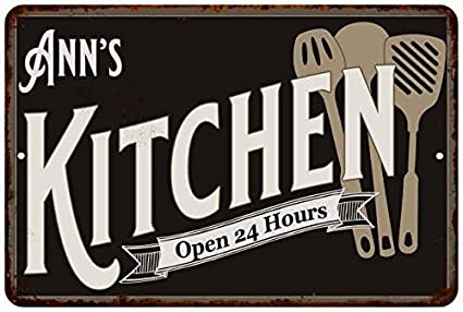 Amazon Com Ann S Kitchen Chic Sign Vintage Wall Decor 8x12
