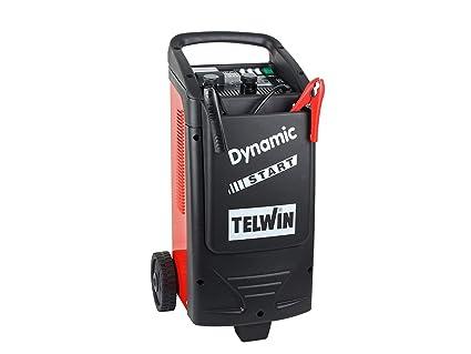 Telwin TE-829382 Cargador-Arrancador, 1600 W, 230 V, Rojo y negro