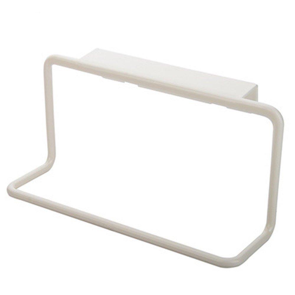 FTXJ Bathroom Kitchen Towel holder Hanging Rack Cabinet Cupboard Hanger (White)