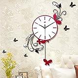 Modern Style Creative Fashion Swing Iron Mute Wall Clock