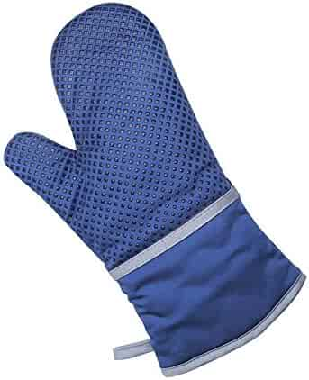 Lznlink 1Pcs Baking Gloves Silicone Cotton Thicken Microwave Oven Non-slip Anti Scald Heat Resistant Glove Kitchen Cooking Tools