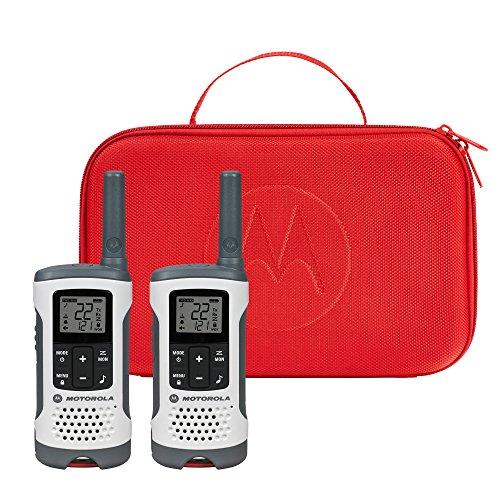 Motorola Talkabout T280 Rechargeable Two-Way Radio Bundle – - Motorola Headset Red