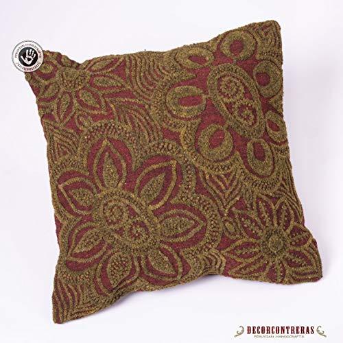 Decorcontrerasembroidered Pillow Cover 16x16 Peru Handmade Pillows Cover Throw Accent Pillow Handmade Wool Pillow Peruvian Textiles Sofa Pillow Dailymail