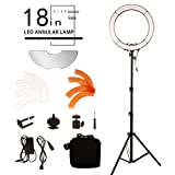 BYWLWLMY Ddjustable 18 Inch 240 Led Ring Light with Stand and Mirror for Makeup Lights,Video Shooting,Product life Shooting,Live Beauty Lights