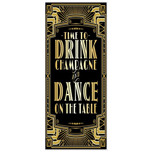 Musykrafties Roaring 1920s Gatsby Grandeur Time to Drink Champagne and Dance on the Table Party Door Cover (1920 Backdrop)