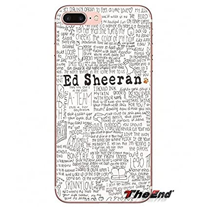 Black White Ed Sheeran Iphone 5c Case Orange Singer Song Lyrics