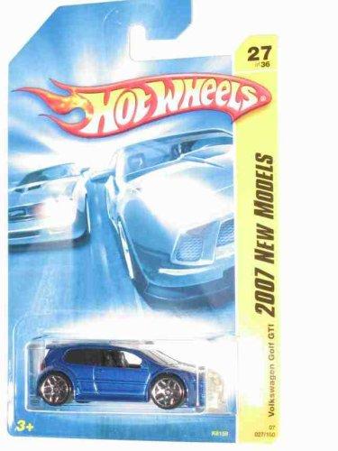 2007 New Models -#27 Volkswagen Golf GTI Blue Tinted Windows #2007-27 Collectible Collector Car Mattel Hot Wheels Blue Volkswagen Golf