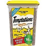 TEMPTATIONS Classic Halloween Cat Treats, Tasty Chicken Flavor 16 oz. Tub
