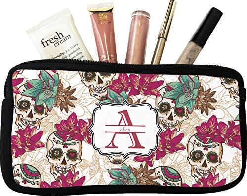 Sugar Skulls & Flowers Makeup/Cosmetic Bag - Small (Personalized)]()