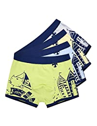 URVIP Boy's Comfortable Briefs Boxers Underwear with Assorted Colors 2 Or 4 Pack