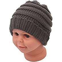 Baby Boys Girl Beanie Skull Slouchy Caps For Warm Crochet Winter Ribbed Knit Hat