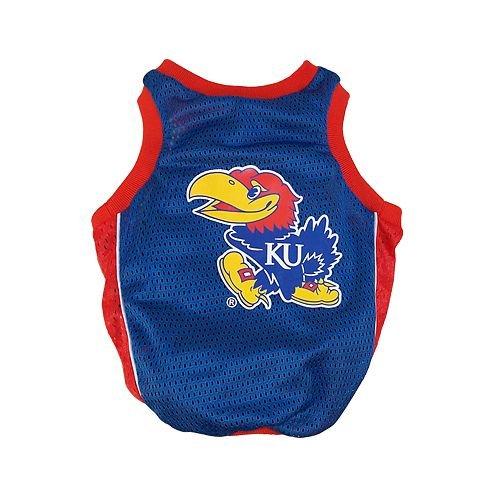 - Sporty K9 Collegiate Kansas Jayhawks Dog Basketball Jersey, X-Small