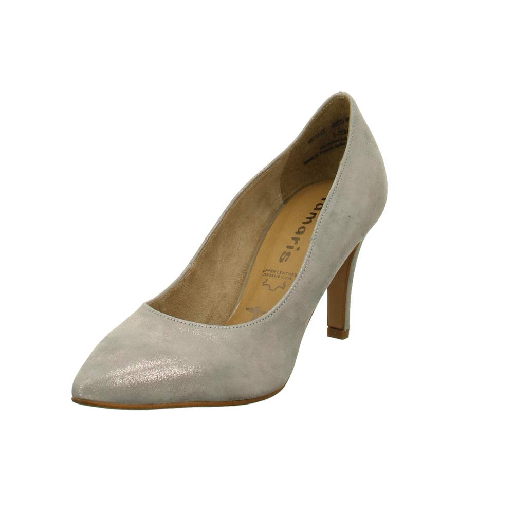 Tamaris Damen Pumps Pumps in Grau-Metallic 22494-220 grau 605917