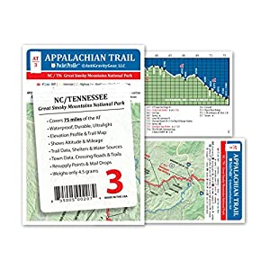 Appalachian Trail Map AT 3 GSMNP Great Smokey Mountains National Park AT Pocket Profile