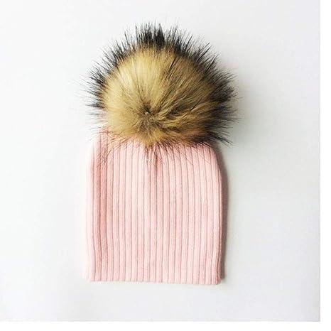 A-HXTM Gorros para bebés Sombrero de pompón Sombrero de Invierno ...