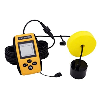 WYXIN Buscador de peces cableado portátil Pantalla LCD Detector de ubicación Fishfinder Fish con Sonda con
