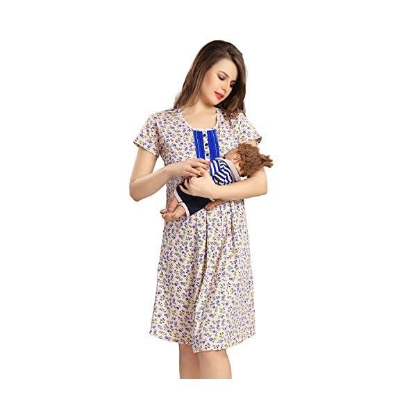 AV2 Women's Cotton Maternity and Feeding Nighty