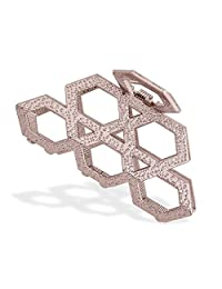 IPINK-Women's Vintage Metal Claw Hair Clip Antique Silver,Champagne
