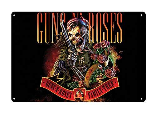 Roses Tin Sign - WholesaleSarong Guns N Roses GNR Skull Rose Metal Sign Kitchen Shop Decor Collectible tin Signs