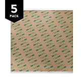 Gizmo Dorks 3M 468MP Adhesive Transfer Tape Sheets 10'' x 10'' (5-Pack)