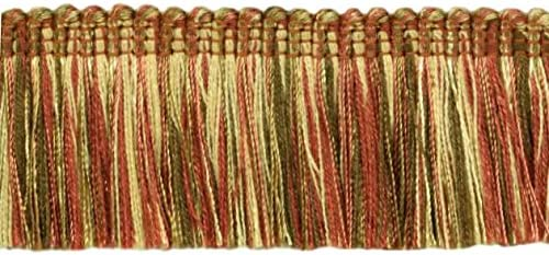 |Sold by The Yard Copper Olive Beige 45mm D/ÉCOPRO Brush Fringe Trim|1 3//4 inch |Style#: 0175HB|Color: 07