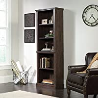 Sauder New Grange 5-shelf Bookcase in Coffee Oak