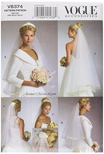 Vogue Patterns V8374 Bridal Veils, One Size