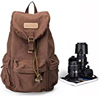 Canvas Camera Backpack DSLR SLR Camera Bag Travel Outdoor Vintage Camera Messenger Bag for Canon Sony Nikon