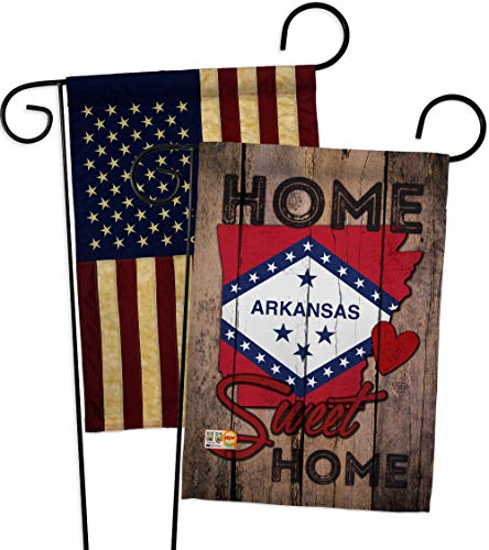 Ornament Collection GP191132-BOAA State Arkansas Home Sweet Americana States Impressions Decorative Vertical 13