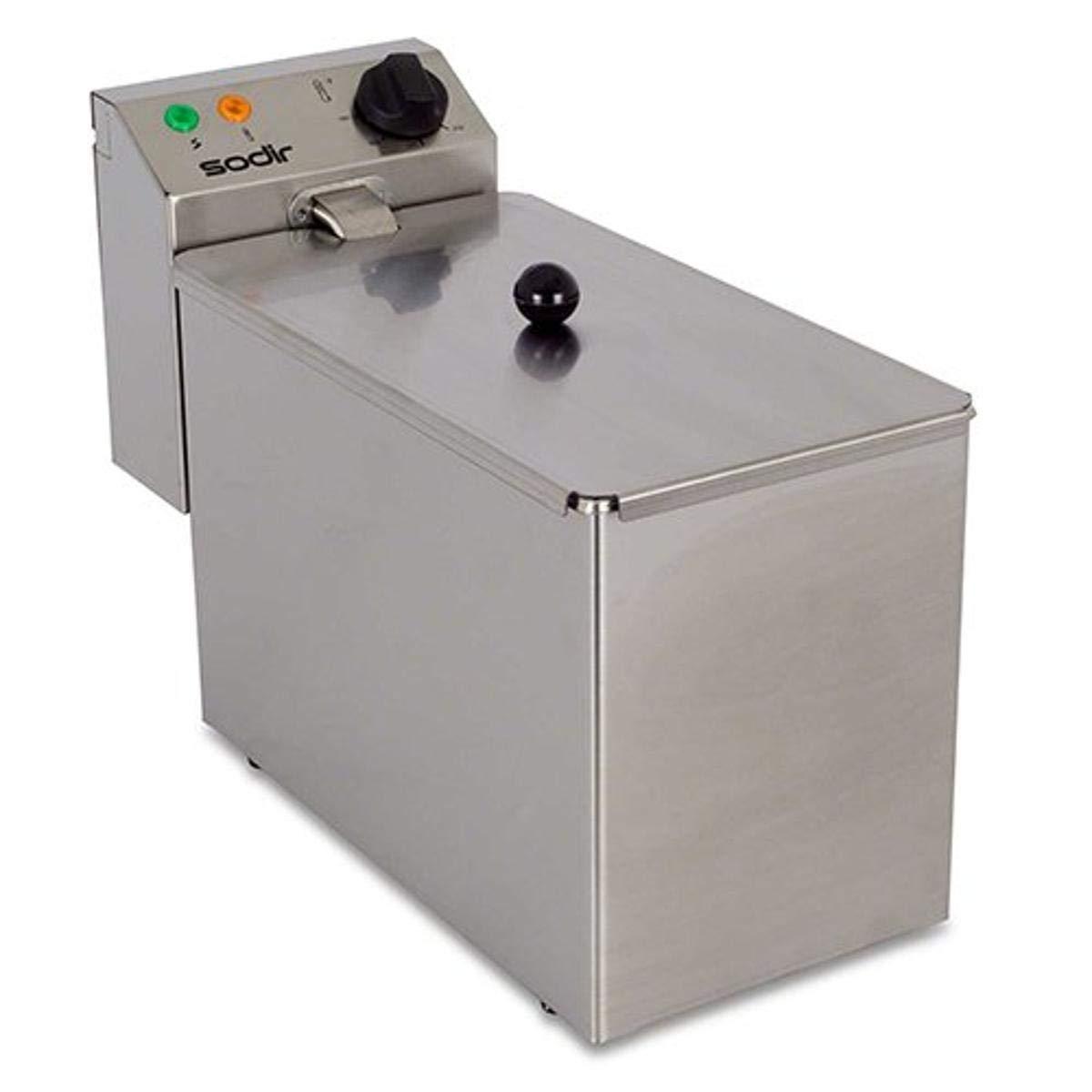 Equipex RF5S Sodir 10-Pound Commercial Countertop Fryer, Stainless Steel, 120V, ETL