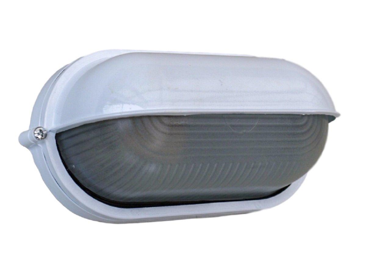 インダストリアル マリン ランプ ライト 壁付け 天井 船舶風 工業系 ガレージ インテリア エクステリア (楕円型カバー) B07BKVR7BP楕円型カバー