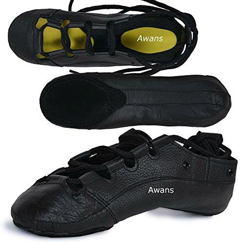 irlandese Dancing pompe, in vera pelle, scarpe, interno giallo, tutte le taglie